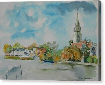 Marlow On Thames Canvas Print by Geeta Biswas