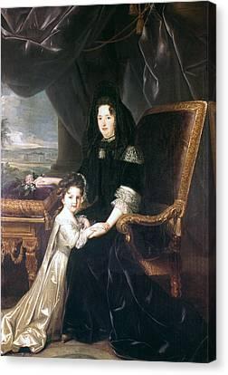 Marquise De Maintenon (1635-1719) Canvas Print by Granger
