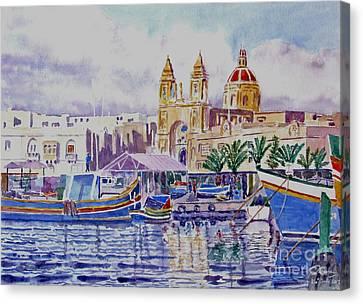 Marsaxlokk Malta Canvas Print by Godwin Cassar