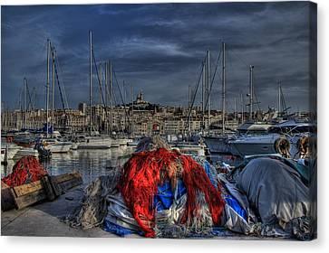 Marseille Canvas Print by Karim SAARI