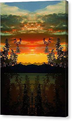 Canvas Print featuring the photograph Marsh Lake - Yukon by Juergen Weiss