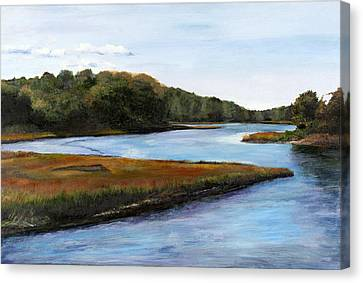Canvas Print featuring the pastel Marshside by Cindy Plutnicki