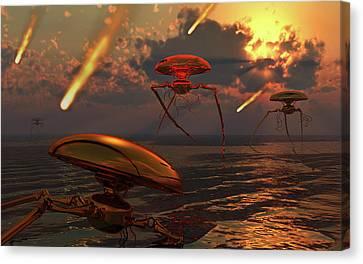 Martian Vehicles And War Machines Canvas Print