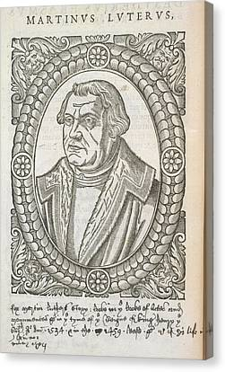 Martin Luther Canvas Print by British Library