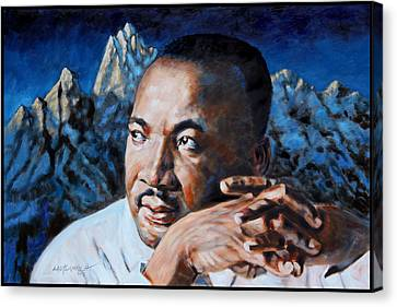 Martin Luther King Canvas Print by John Lautermilch