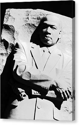 Canvas Print featuring the photograph Martin Luther King Memorial by Cora Wandel