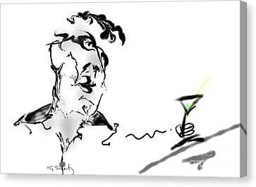 Canvas Print featuring the digital art Martini by Gabrielle Schertz