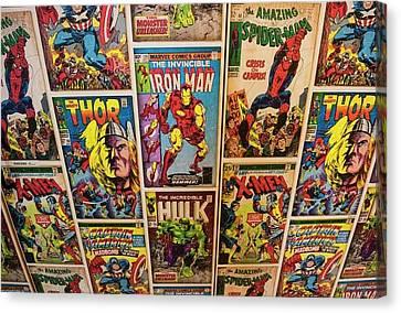 Marvel Comics Heroes Canvas Print by Ken Welsh