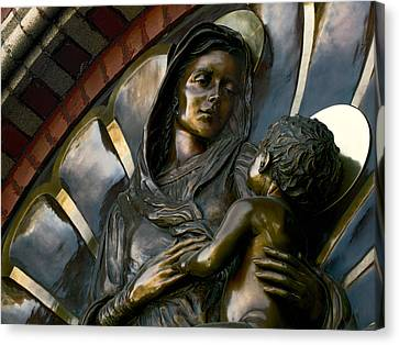 Mary And Jesus Canvas Print by Daniel Hagerman