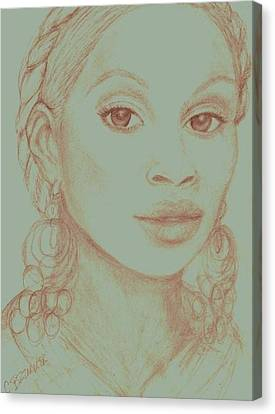 Mary J Blige Canvas Print by Christy Saunders Church