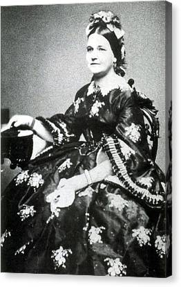First Ladies Canvas Print - Mary Todd Lincoln, First Lady by Science Source