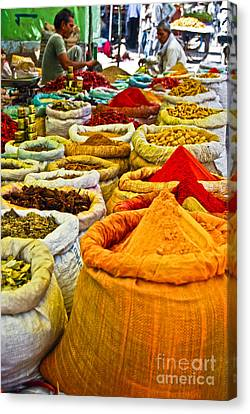 Masala Bazaar Canvas Print