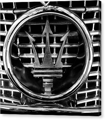 Maserati Canvas Print by Les Cunliffe