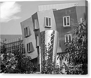 Massachusetts Institute Of Technology Stata Center Canvas Print by University Icons