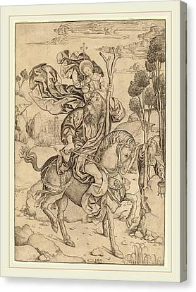 Saint Christopher Canvas Print - Master I.a.m. Of Zwolle Dutch by Litz Collection