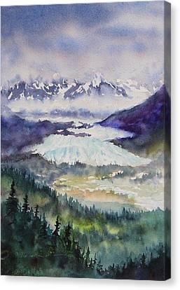 Matanuska Glacier Canvas Print by Karen Mattson