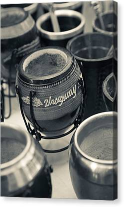 Mate Cups At A Market Stall, Plaza Canvas Print by Panoramic Images
