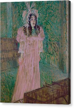 Cardboard Canvas Print - May Belfort by Henri de Toulouse-lautrec