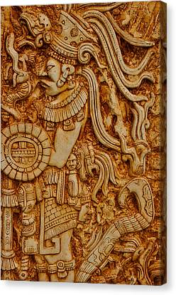 Mayan Indian Warrior Canvas Print