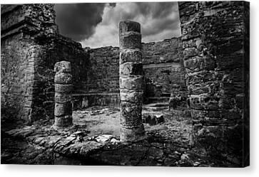 Mayan Ruin Canvas Print by Julian Cook
