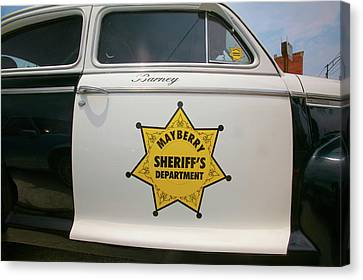 Mayberry Sheriffs Department Police Car Canvas Print