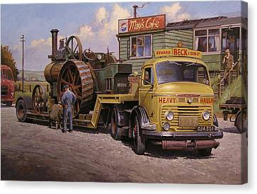 May's Transport Cafe. Canvas Print by Mike  Jeffries