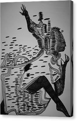 Mbakumba Dance - Zimbabwe Canvas Print by Gloria Ssali