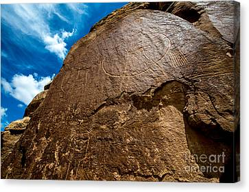 Mcconkie Ranch Petroglyph - Utah  Canvas Print by Gary Whitton