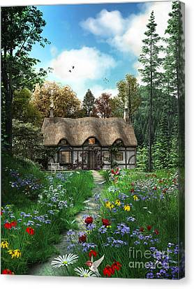 Meadow Cottage Canvas Print