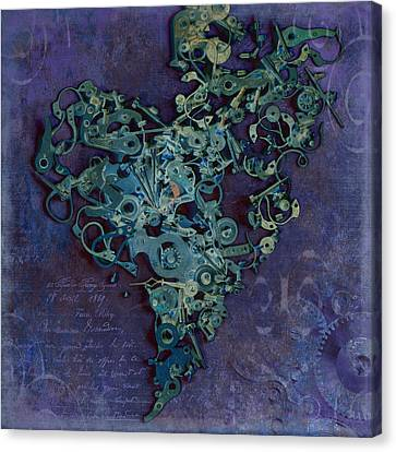 Mechanical - Heart Canvas Print by Fran Riley