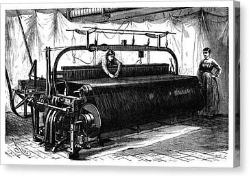 1874 Canvas Print - Mechanical Loom by Science Photo Library