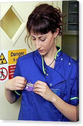 Medical Radiation Dosimetry Canvas Print by Public Health England