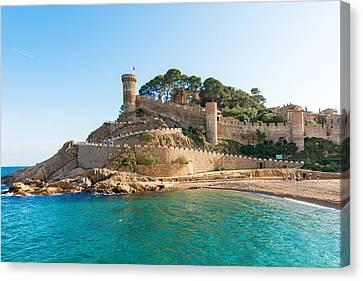 Medieval Castle In Tossa De Mar Spain Canvas Print by Marek Poplawski