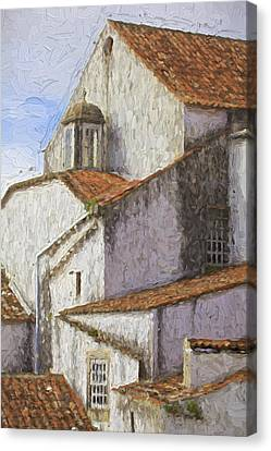 Medieval Village Of Obidos Canvas Print by David Letts