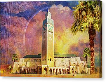 Medina Of Marakkesh Canvas Print by Catf