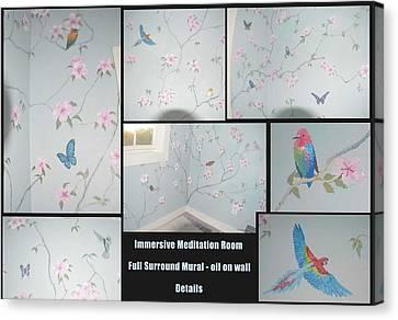 Meditation Garden Surround Mural Canvas Print by Dan Terry