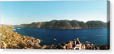 Mediterranean Sea Viewed Canvas Print by Panoramic Images