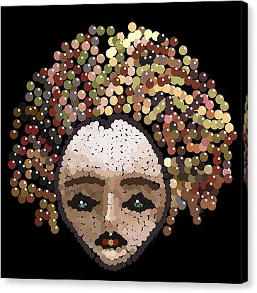 Medusa Bedazzled After Canvas Print by R  Allen Swezey