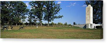 Memorial At Gettysburg National Canvas Print by Panoramic Images
