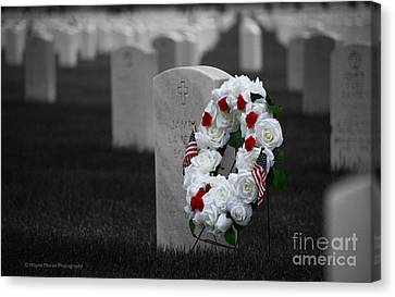 Memorial Day Remembering Those Who Gave The Ultimate Sacrifice Canvas Print