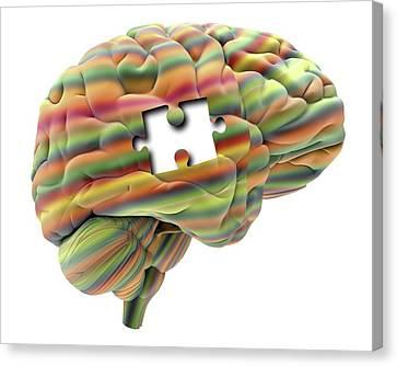 Mental Health Canvas Print - Memory Loss by Alfred Pasieka