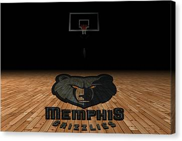 Benches Canvas Print - Memphis Grizzlies by Joe Hamilton