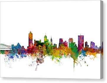 Memphis Tennessee Skyline Canvas Print by Michael Tompsett