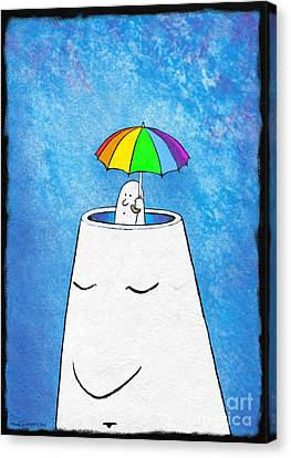 Mental Health Protection, Artwork Canvas Print by David Gifford