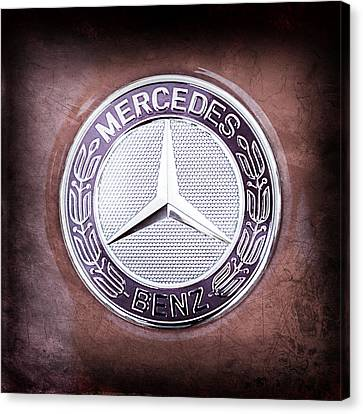 Mercedes-benz 6.3 Amg Gullwing Emblem Canvas Print