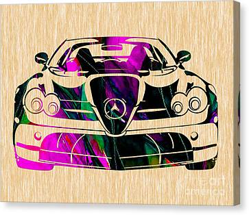 Mercedes Benz Canvas Print - Mercedes Benz Painting by Marvin Blaine