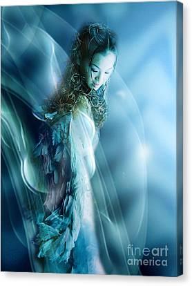 Mermaid Canvas Print by VIAINA Visual Artist