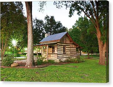 Log Cabin Canvas Print - Merriman Cabin Historic Structure by Larry Ditto