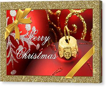 Merry Christmas Card Canvas Print