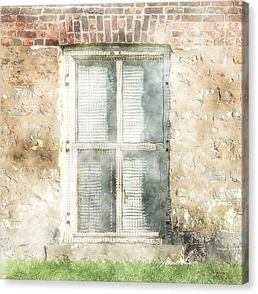 Mesh Window Canvas Print